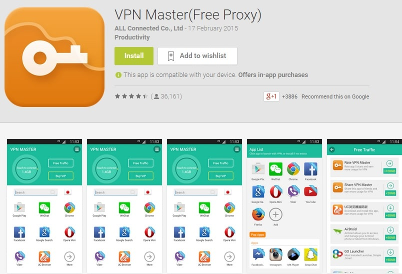 VPN Master for PC Windows