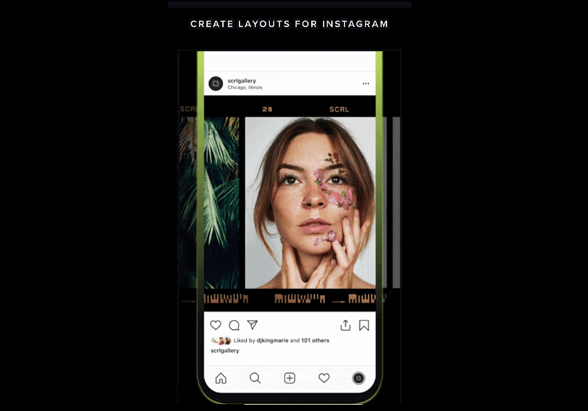 SCRL - Discover the Best Application to Make a Continuous Carousel on Instagram