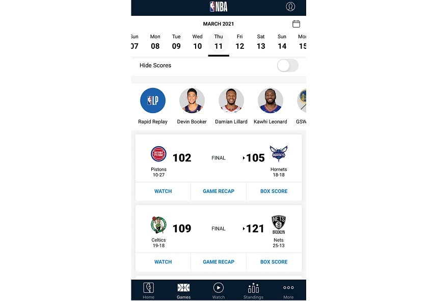 NBA Official App: Watch Basketball, Get News, and More