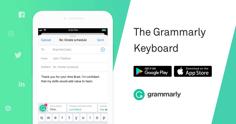 Write Better Using the Grammarly Keyboard App