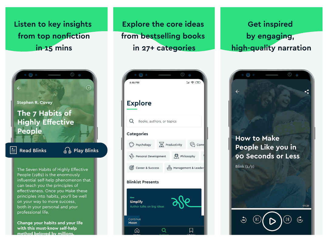 Short on Time? Get Key Insights on Popular Books and Podcasts with the Blinkist App