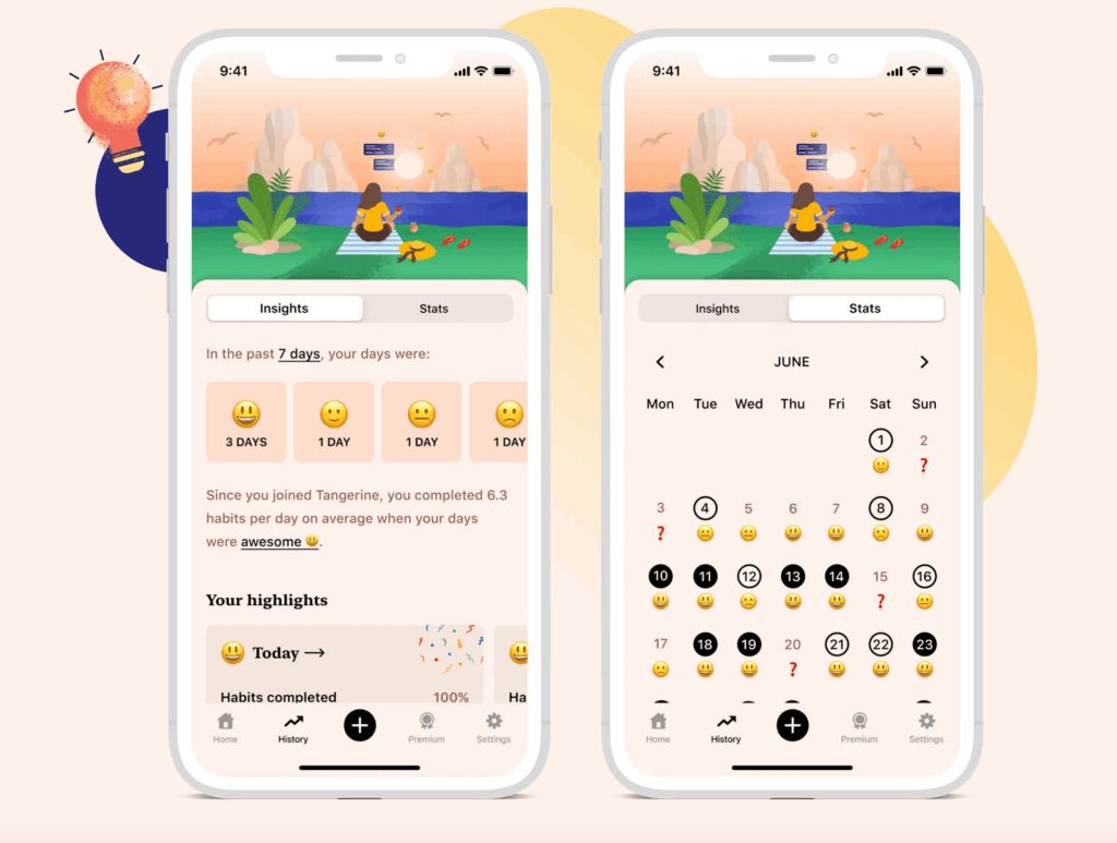 Practice Self-Care and Set Goals with the Tangerine App